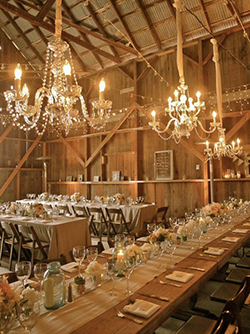 Calgary barn wedding reception