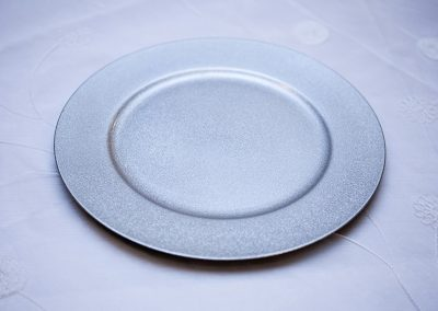 Calgary Wedding Charger PLates Silver