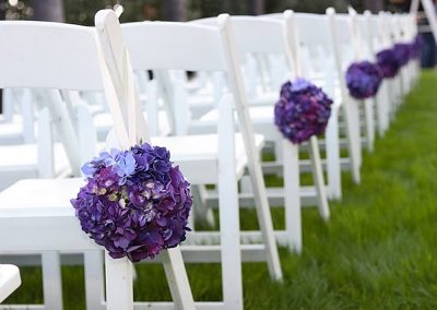 Calgary Wedding Decor- Aisle Decor- White Resin Chairs