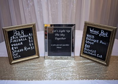 Calgary Wedding Decor- Bar Frames