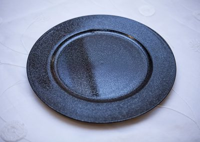 Calgary Wedding Decor- Black Charger Plates