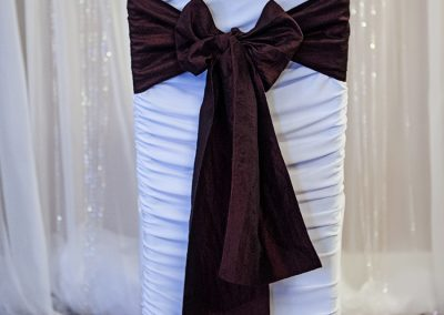 Calgary Wedding Decor- Burgendy Sash