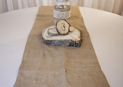 Calgary Wedding Decor- Burlap Table Runner