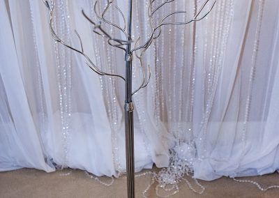 Calgary Wedding Decor- Centrepiece- Tree with crystal droplets