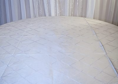 Calgary Wedding Decor- Light Pintuck Table Cloth