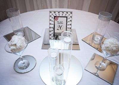 Calgary Wedding Decor- Mirrors, Vases, Centrepiece