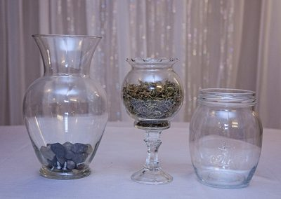 Calgary Wedding Decor Rustic Vases- centrepieces