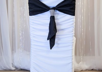 Calgary Wedding Decor- Short- Black Chair Sash