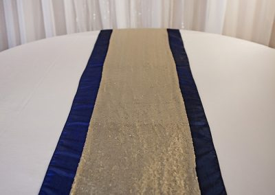 Calgary Wedding Decor- Table Runner- Navy And Gold sequin