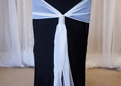Calgary Wedding Decor- White Chair Sash