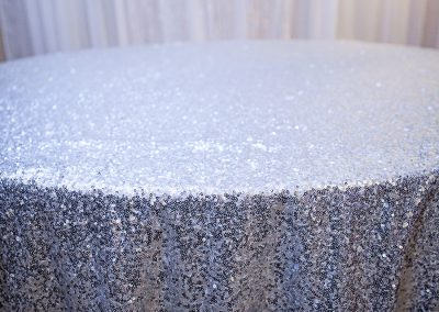 Calgary Wedding Linens Silver Sequin