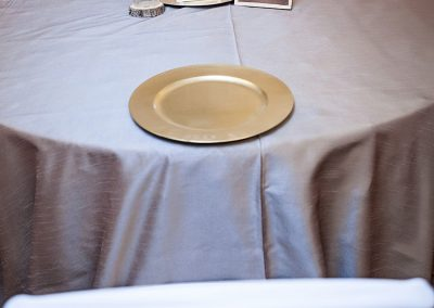 Calgary wedding Decor- Gold Charger Plates