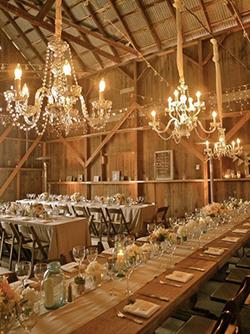 Calgary barn wedding reception