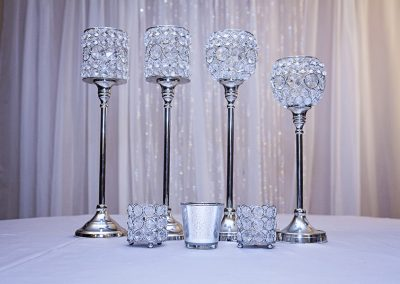 Calgary Wedding Centre Pieces Bling