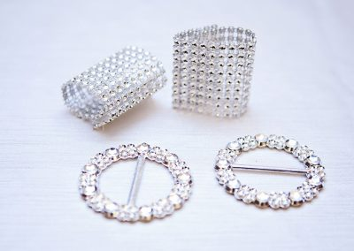 Calgary Wedding Decor- Buckles and Bling wraps