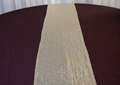 Calgary Wedding Decor- Burgendy Majestic Table Cloth