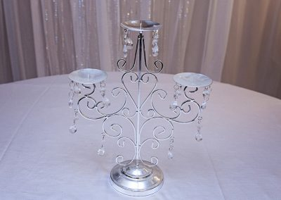 Calgary Wedding Decor Candelabra Silver bling