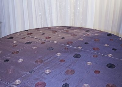 Calgary Wedding Decor- Chocolate Circle Table Cloth