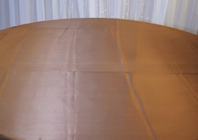 Calgary Wedding Decor- Copper Table Cloth