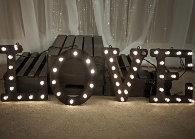 Calgary Wedding Decor- Love light up Marquee sign