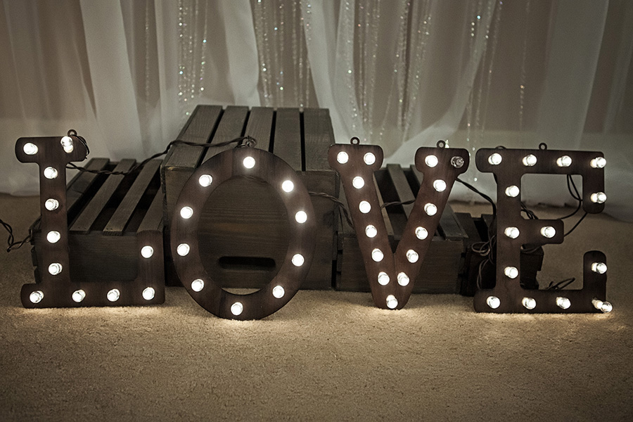 Calgary Wedding Decor Love Light Up Marquee Sign Everlasting