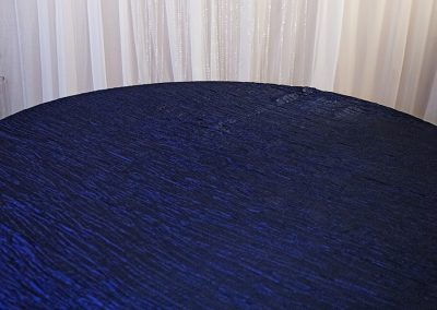 Calgary Wedding Decor- Navy Blue Crinkle