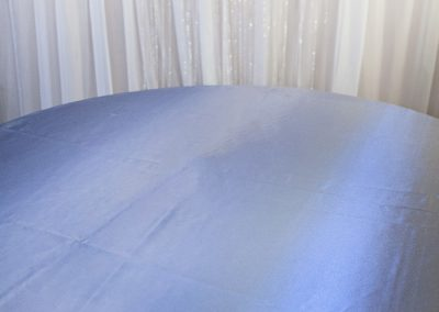 Calgary Wedding Decor- Purple shimmer Table cloth