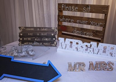 Calgary Wedding Decor- Signs