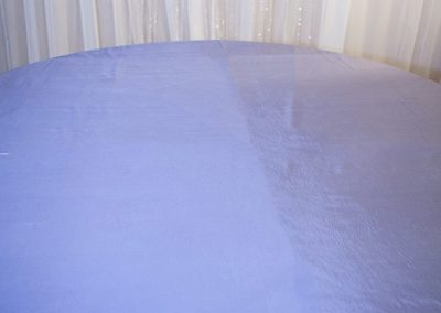 Calgary Wedding Decor- Silver Table cloth