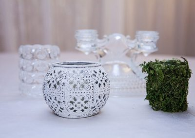 Calgary Wedding Decor Votives for Centre Pieces