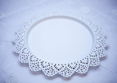 Calgary Wedding Decor- White Charger Plates