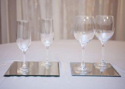 Calgary Wedding Decor- Wine and Champagne glasses