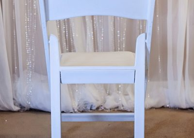 Calgary Wedding White resin chairs 1