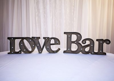 Calgary Wedding decor- Light Up signs