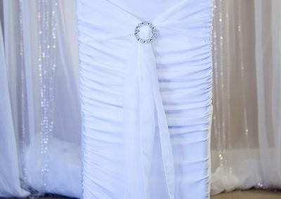 Calgary Wedidng Decor- White Chair Sash
